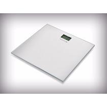 Bascula Balanza Digital Plana Cristal Templado Color Blanco