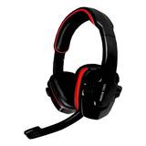 Audífonos Gamer Eagle Warrior Hs-501 Negro Y Rojo