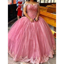 cb9458395 Hermoso Vestido De Xv Años Color Palo De Rosa Talla 3 en venta en ...
