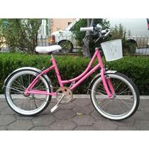 Bicicleta Para Niña Retro Rosa Y Varios Colores