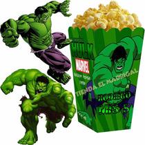 Kit Imprimible El Increible Hulk Decoraciones Cajitas Fiesta