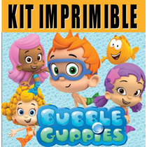 Kit Imprimible Bubble Guppies - Decoraciones Cajitas Fiesta