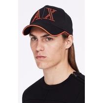 Gorra Ax Armani Exchange (echo Line Logo) Negra 100%original