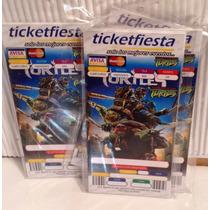 Tortugas Ninja 10 Invitaciones Tipo Ticket