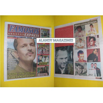 Miguel Bose Eduardo Yañez Revista Famosos Express 2012