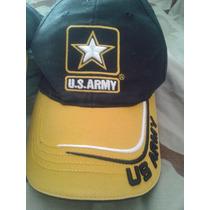 Gorra Us Army Importada Negra Con Logo Bordado Ajustable