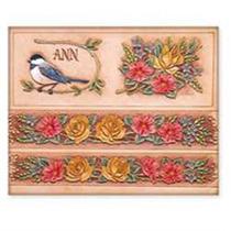 Patrón Roses Cinturón - Y Billetera Craftaid Diseño Cuero