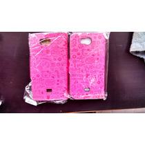 Lanix Illium S410 Cartera Fashion Piel Cute + Mica Promocion