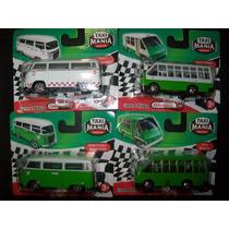 Gcg Lote De 2 Micros Y 2 Combis Taxi Mania Mexico 4 Pzas