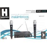 Microfonos Inalambricos Vhf De Alta Calidad  Harden Kmi-220