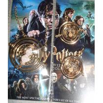 Juego Collar Y Aretes Giratiempo Germione De Harry Potter