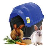 Casa Cama Conejo Plast Pet Stone House No1 Azul Envío Gratis