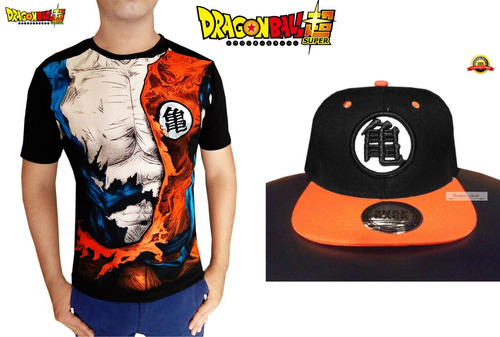 Goku Dragon Ball Goku Super Playera + Gorra Bordada Goku en venta en ... f96465506c7