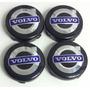 4x Centro Tapón De Rin Volvo 64mm Negro Azul - Envío Gratis