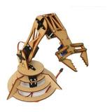 Brazo Robotico Mas Barato  Quo Chasis Madera Arduino