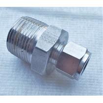 Conector Recto Macho Npt A Od Inox 1/8 Npt A 1/4 Od