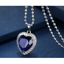 9ddd849c1eba Swarovski Elements Oferta Collar Dije Corazon Azul Titanic en venta ...