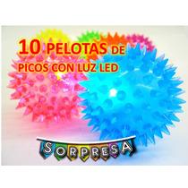 Pelota De Picos Con Luz Led (precio A Mayoristas Fiesta Piña