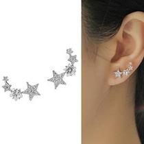 Cishop Estrella Circón Pendientes Diamante Del Alambre Del O