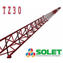 Torre Tz30 Arriostrada Galvanizada En Caliente