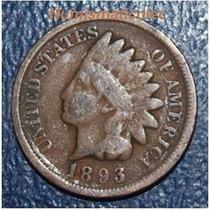Moneda 1 Centavo Cabeza De Indio 1893 Indian Head