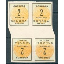 Sc 395 Año 1914 B4 Sonora Mexico Sin Punto Tete Beche