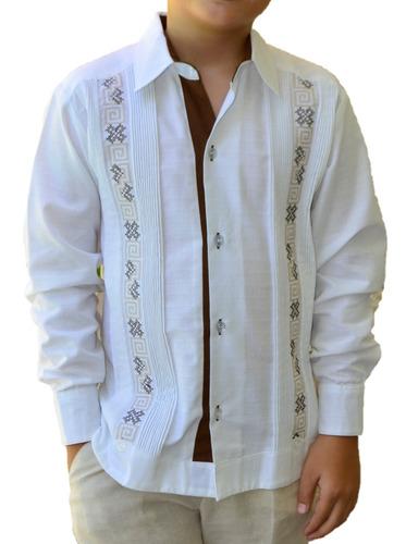 62d3fc2839 Camisa Guayabera Yucateca Casual Lino Niño  cfkjorn1221 en venta en Mérida  Yucatán por sólo   550