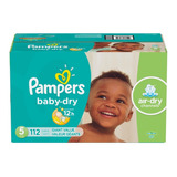 Pañales Pampers Baby Dry, Talla 5, 112 Pzs