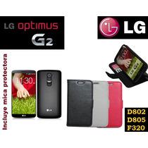 Funda Vinipiel Lg Optimus G2, D802, D805, F320 Más Mica