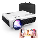 Proyector Led Portatil Con Funcion Espejo Compatible Con Android iPhone Full Hd Multipuertos Maletin Incluido