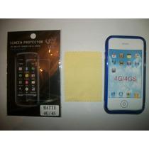 Kit 3x1 Tpu+ Mica Matte+ Paño Iphone 4g!!!
