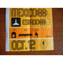 Olimpiadas 1968 Boleto Inauguración Jo Estadi68 Oct 12
