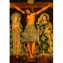 Oleo Al Alto Relieve De Cristo Crucificado, Detalles
