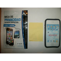 Kit 3x1 Silicon+ Mica Privacidad+ Paño Iphone 4s!!!
