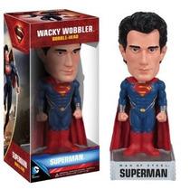 Funko Dc Comics Man Of Steel Superman Wacky Wobbler Nuevo