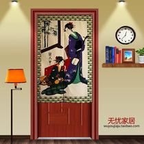 Noren Cortina Japonesa Tradicional Oriental Maneki Geishas