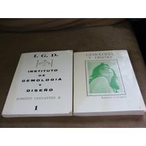 Par De Libros Gemologia Y Diseño, Joyeria, Roberto Cervantes