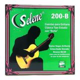 Juego De Cuerdas Nylon Selene 200-b Guitarra Clásica C/borla