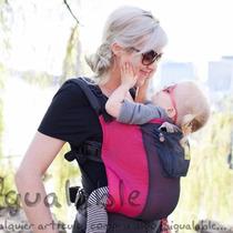 Portador Para Bebes Lillebaby Rosa Con Negro