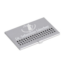 Tarjetero Ejecutivo Aluminio Con Grabado Laser