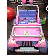 Jeep Barbie Carro Eléctrico Rm4