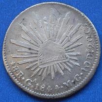 Moneda México Guadalajara 8 Reales 1844 M C Excelente Estado