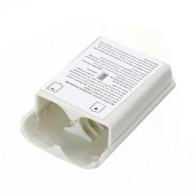 Tapa Baterias Control Xbox 360 Repuesto Blanco Negro
