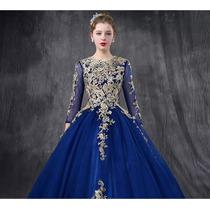 0650e016f Hermoso Vestido Azul Rey Xv Años Envio Gratis Ml7010 en venta en San ...