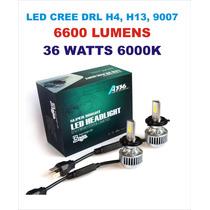 Luz Bi Led Cree Drl H4 H13 9007 Alta/baja 6600 Lm 36w Nuevos