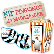 Kit Imprimible Pinguinos De Madagascar Decoraciones Cajitas