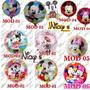 10 Globos Circulares De 18  O 45 X 45 Cm De Mickey O Minnie