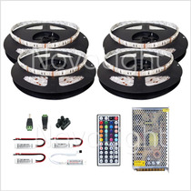 Kit 20mt Tira Led Multicolor Rgb 5050 Ip65 - Todo Incluido !