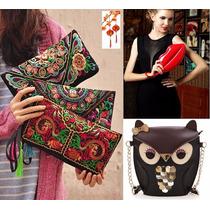 Moda Japonesa Bolsa Cartera Buho Labios Vintage Envio Gratis