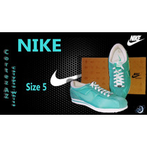 Geniales Tenis Nike Cortez Az..ultimo Par!! Running